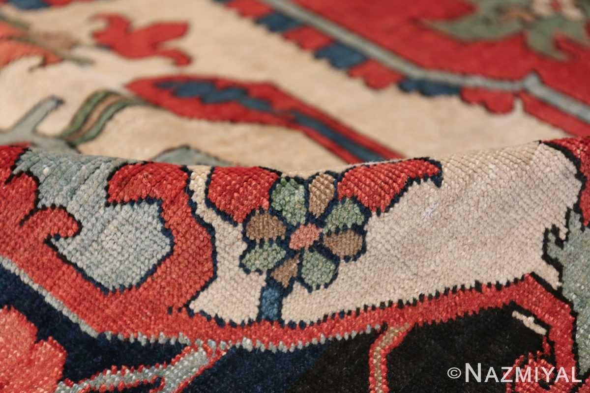 Large Antique Persian Serapi Rug 49742 ivory pile Nazmiyal