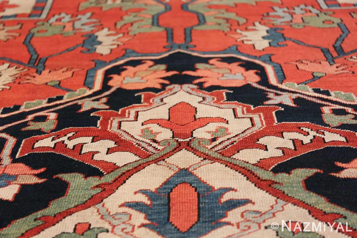 Large Antique Persian Serapi Rug 49742 tiara Nazmiyal