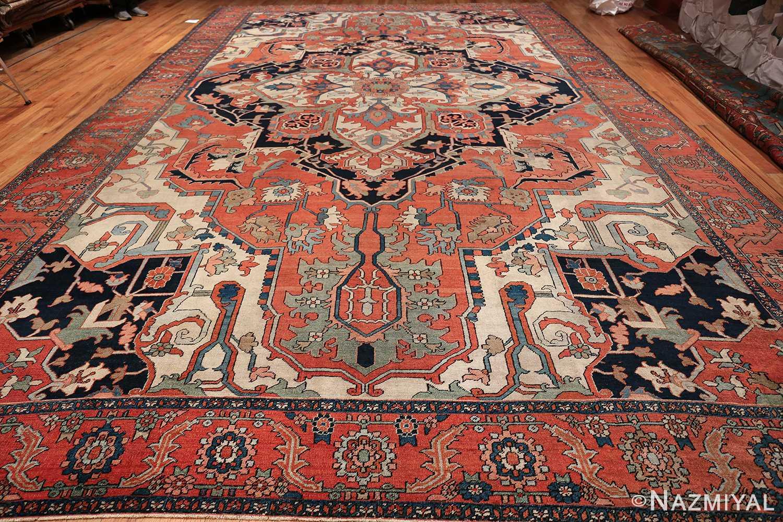 Large Antique Persian Serapi Rug 49742 whole design Nazmiyal