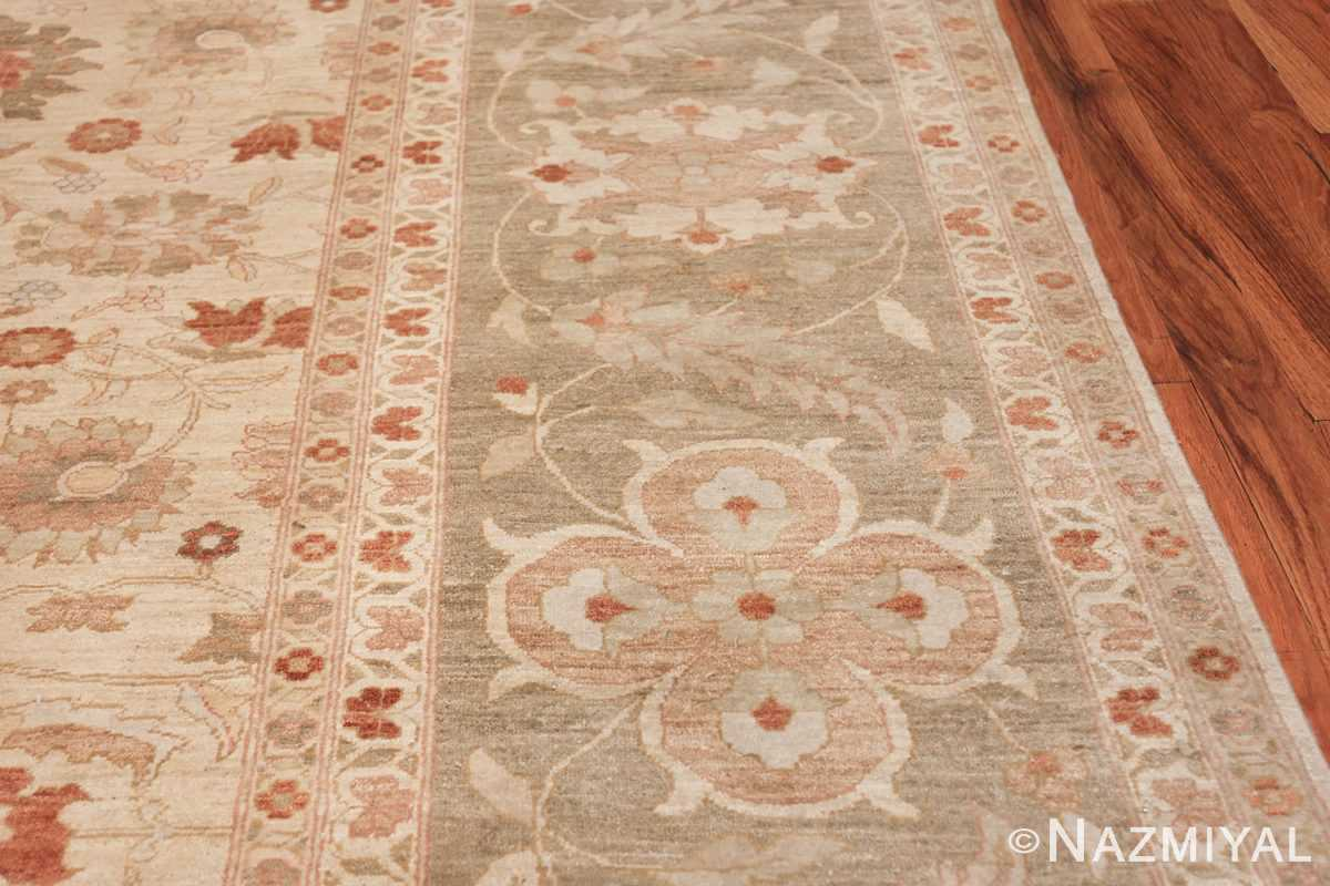 Large Modern Tabriz Design Egyptian Rug 49805 green border Nazmiyal