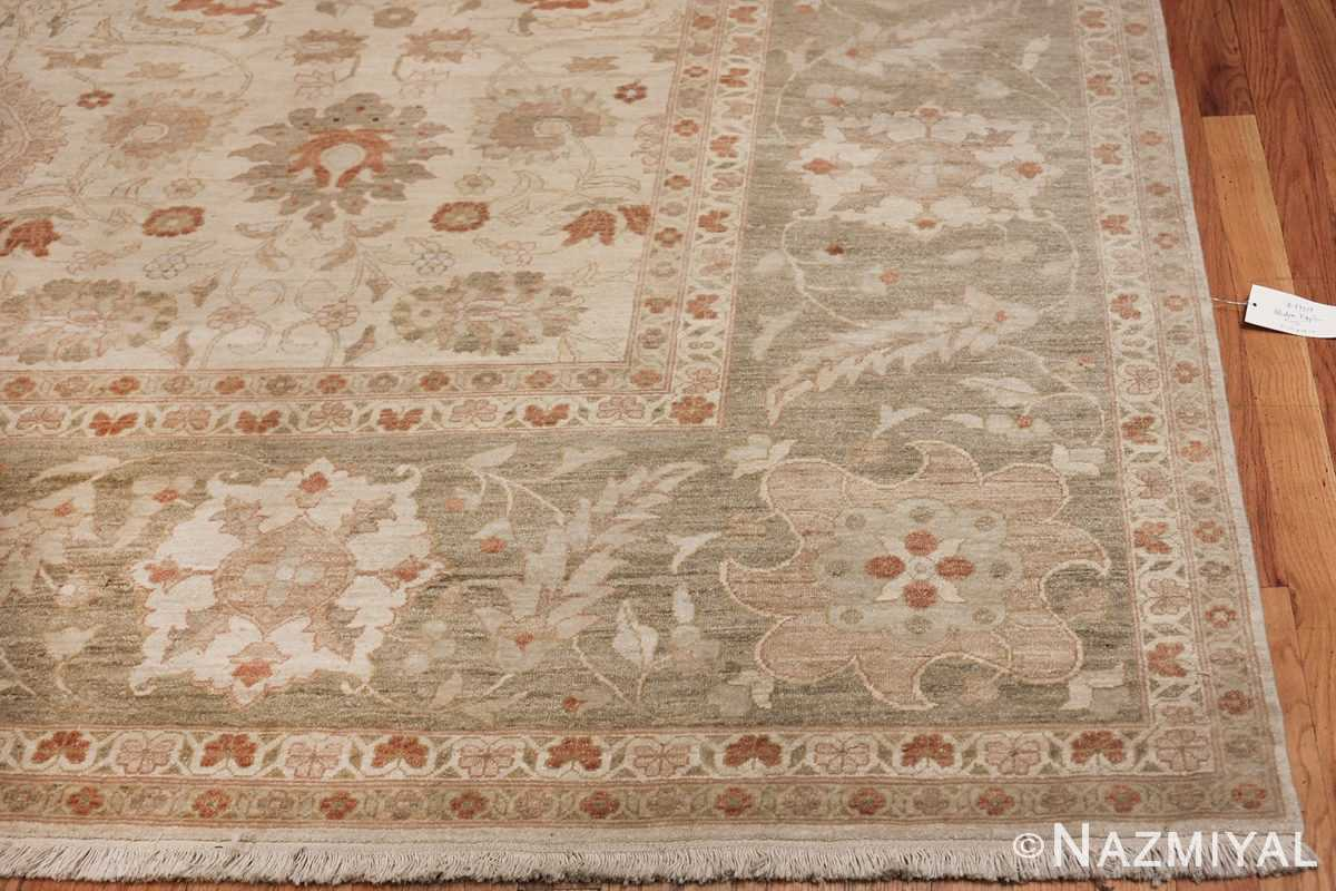 Large Modern Tabriz Design Egyptian Rug 49805 green corner Nazmiyal