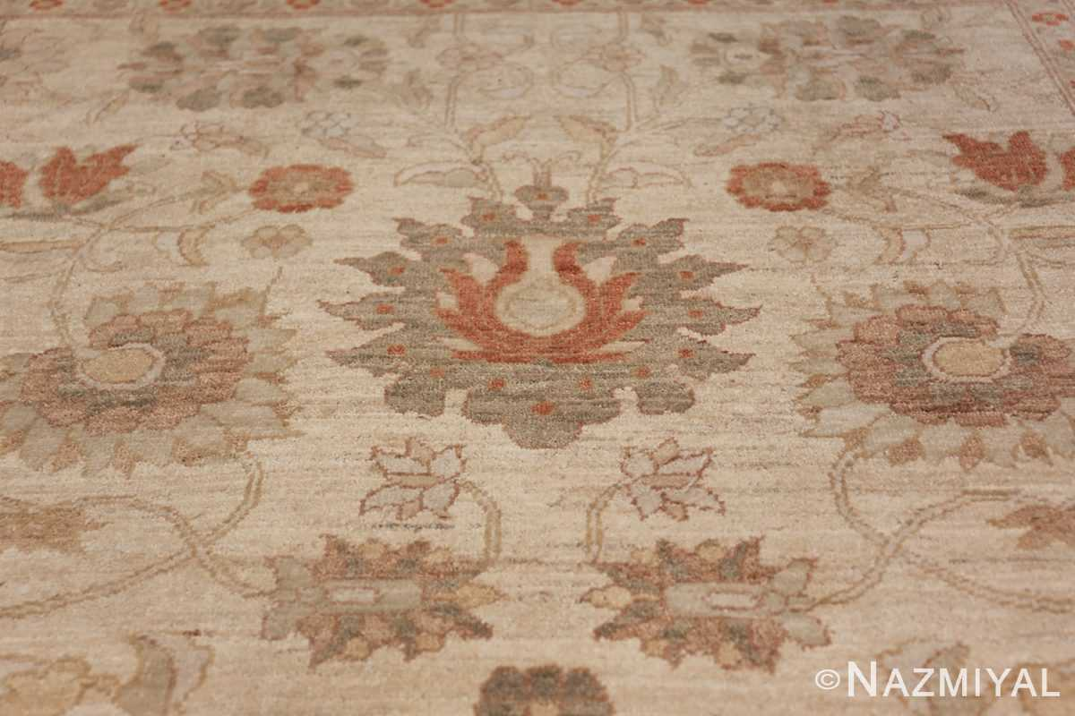 Large Modern Tabriz Design Egyptian Rug 49805 green flower design Nazmiyal