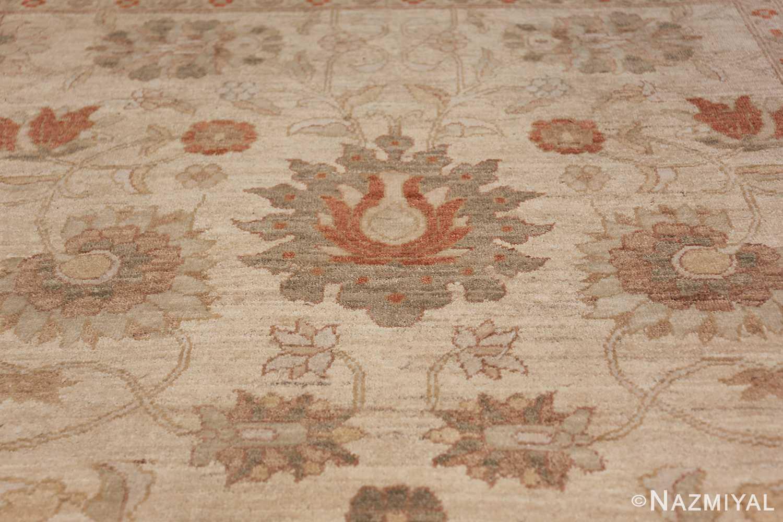 Large Modern Tabriz Design Egyptian Rug 49805 green flower design Nazmiyal
