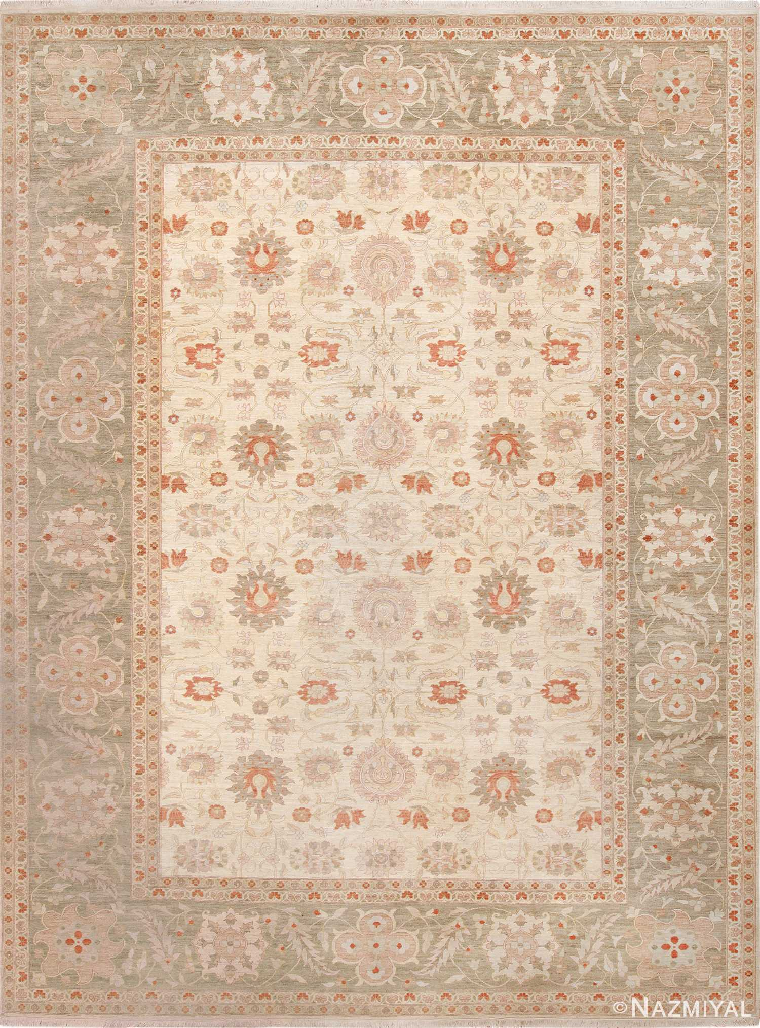 Large Persian Tabriz Design Modern Egyptian Rug 49805 - Nazmiyal