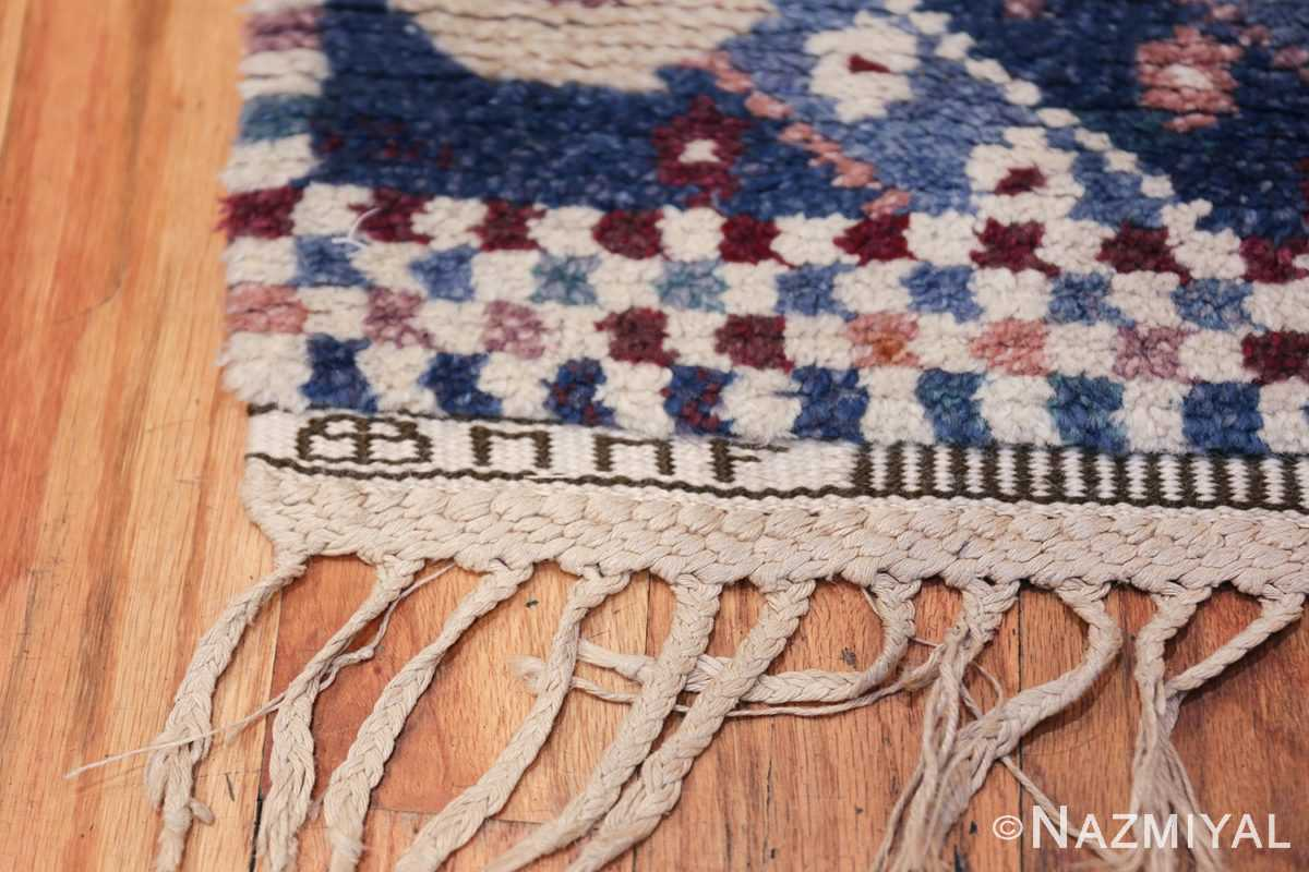 Marianne Richter vintage Scandinavian Pile Rug For Marta Mass 49824 MM Signature Initials Nazmiyal