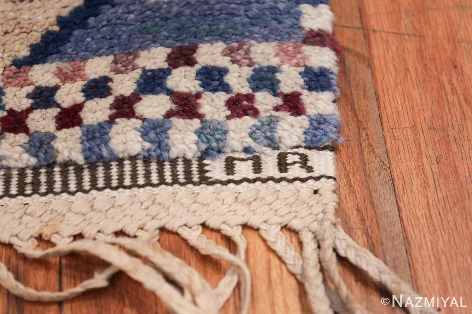 Marianne Richter vintage Scandinavian Pile Rug For Marta Mass 49824 MR Signature Initials Nazmiyal