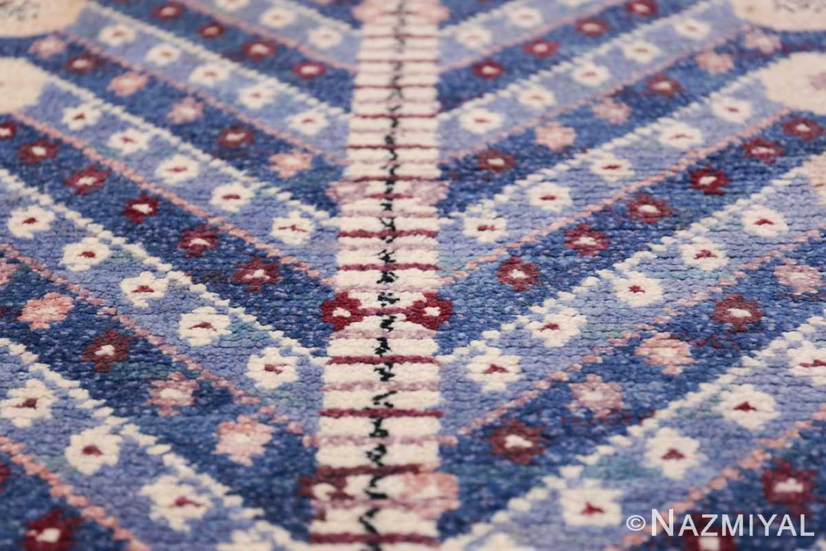 Marianne Richter vintage Scandinavian Pile Rug For Marta Mass 49824 Tiny Flowers Nazmiyal