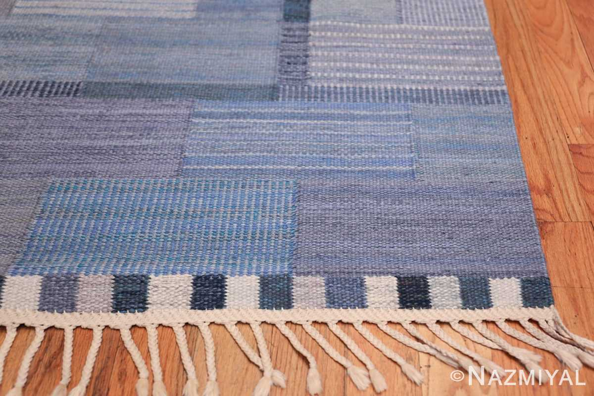 Marta Maas Vintage Scandinavian Swedish Kilim rug by Marianne Richter 49821 Side Corner Nazmiyal