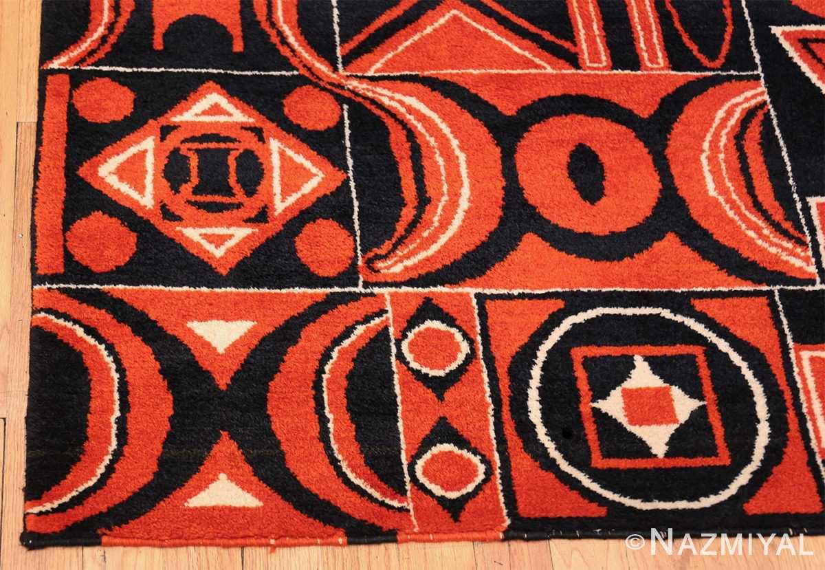 Olga Fisch Formas Vintage Ecuadorian Rug 49814 Geometric Corner Nazmiyal