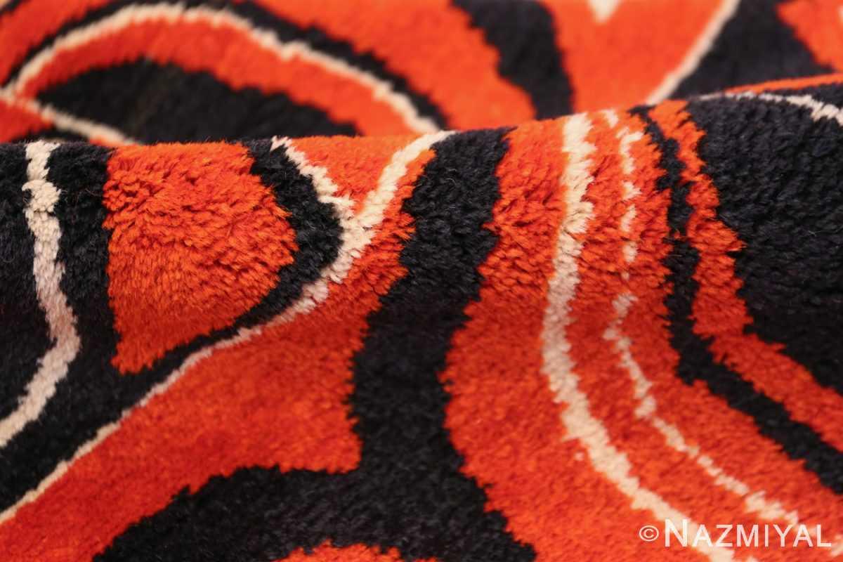 Olga Fisch Formas Vintage Ecuadorian Rug 49814 Red Black Pile Nazmiyal
