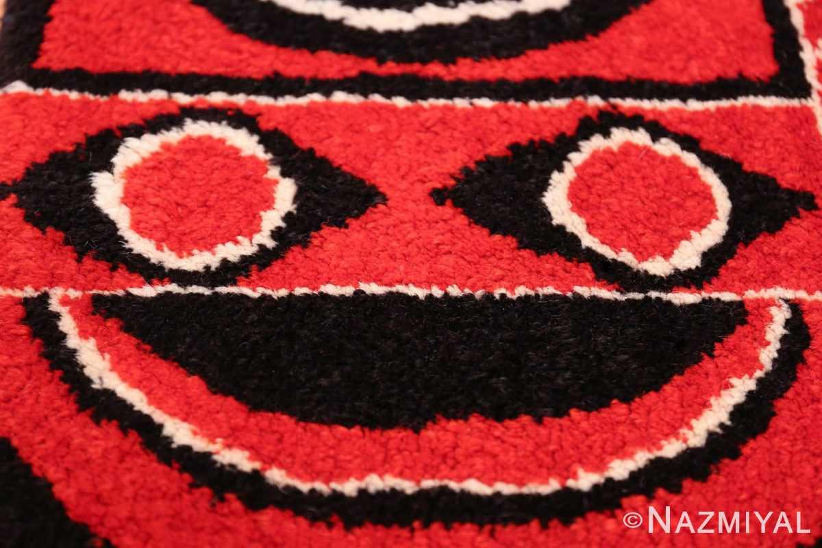 Olga Fisch Formas Vintage Ecuadorian Rug 49814 Smiling Man Nazmiyal