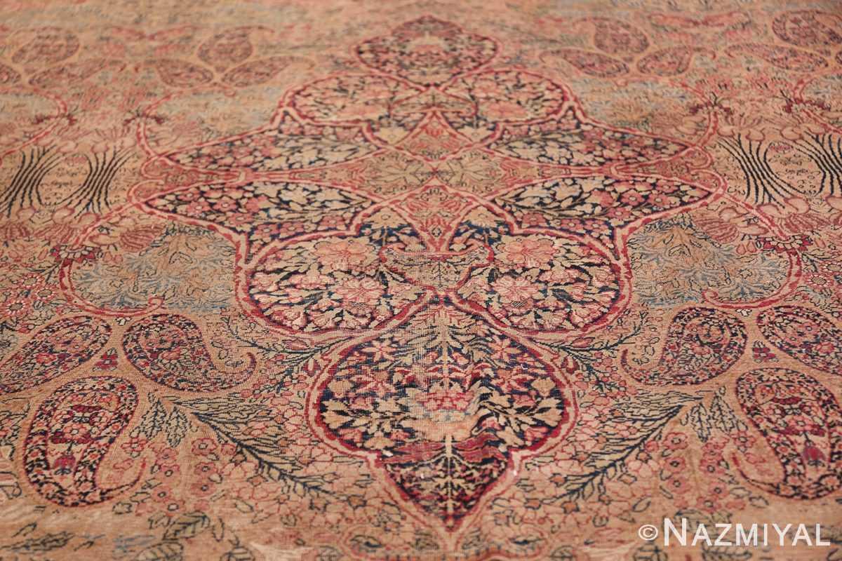 Oversize Antique Persian Lavar Kerman Rug 49681 Central Medallion Nazmiyal