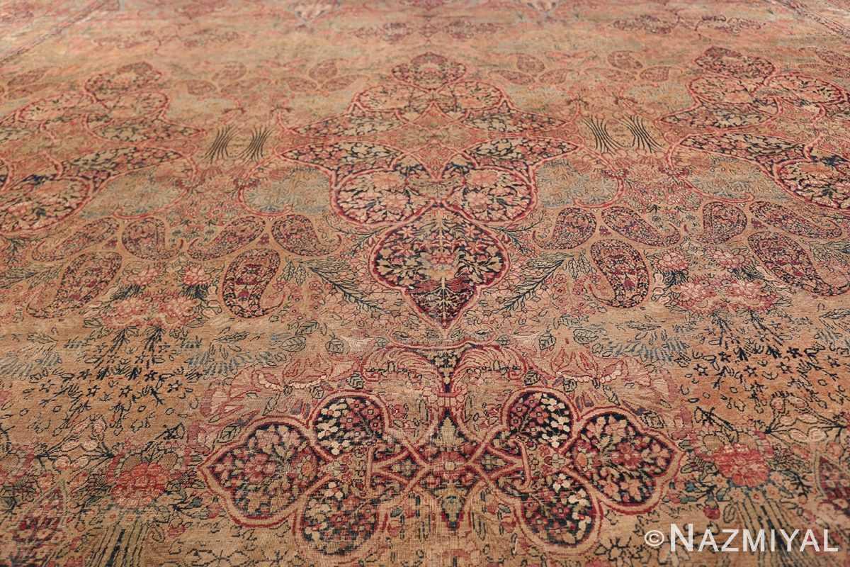 Oversize Antique Persian Lavar Kerman Rug 49681 Closer Look Nazmiyal