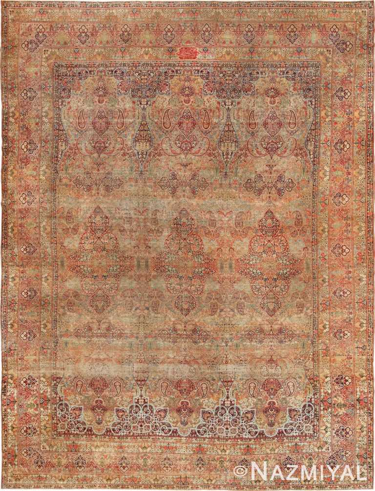 Antique Oversize Persian Lavar Kerman Rug 49681 Nazmiyal