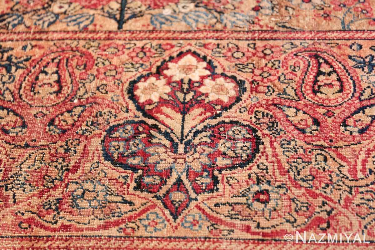 Oversize Antique Persian Lavar Kerman Rug 49681 Ivory Bunch Nazmiyal