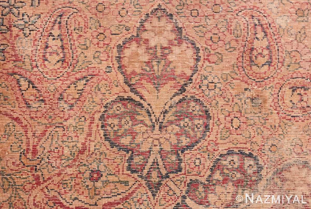 Oversize Antique Persian Lavar Kerman Rug 49681 Knots Woven Nazmiyal