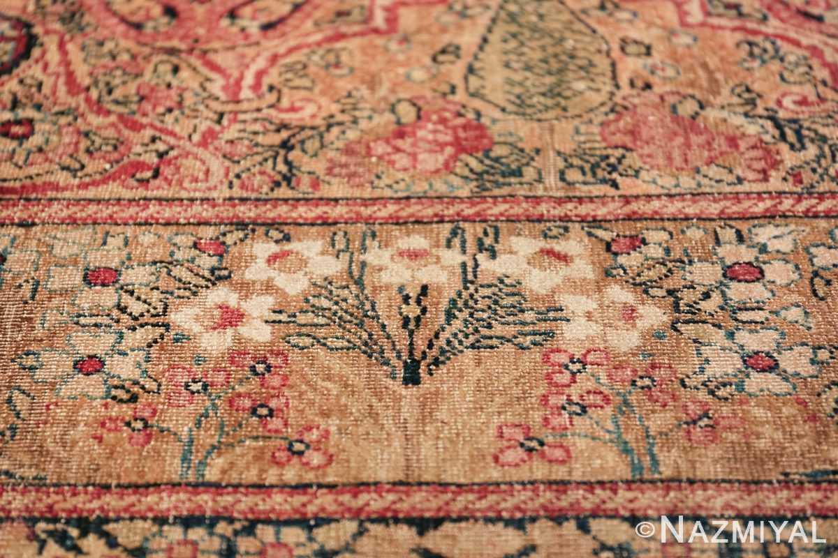 Oversize Antique Persian Lavar Kerman Rug 49681 Small Flower Nazmiyal