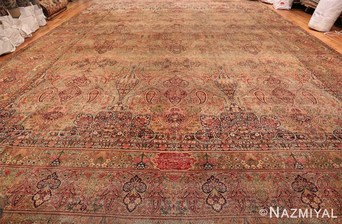 Oversize Antique Persian Lavar Kerman Rug 49681 Whole Design Light Side Nazmiyal