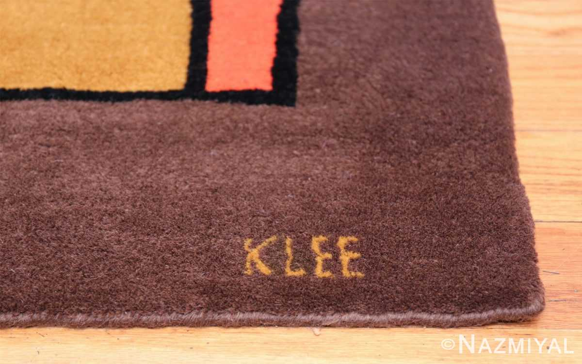 Paul Klee Checkboard Design Vintage French Rug 49813 Artist Signature Nazmiyal