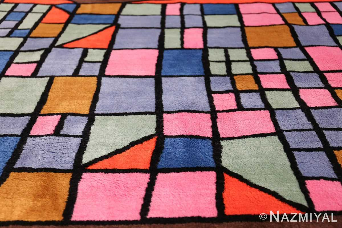 Paul Klee Checkboard Design Vintage French Rug 49813 Chekboard Field Nazmiyal