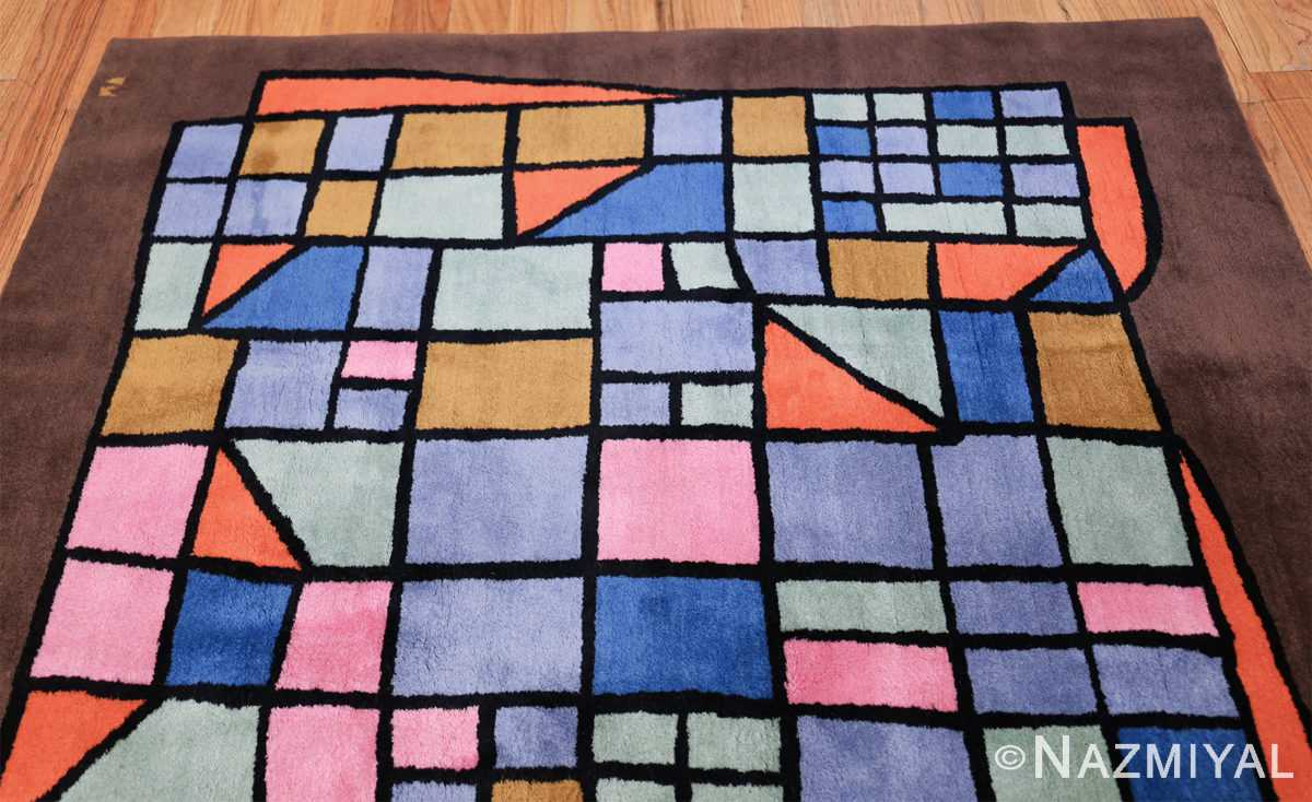 Paul Klee Checkboard Design Vintage French Rug 49813 Top Design Nazmiyal