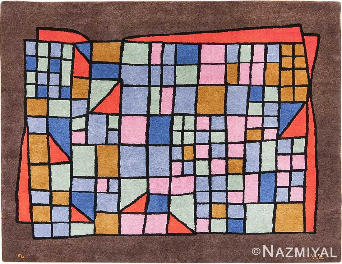 Vintage French Paul Klee Art Rug 49813 Nazmiyal