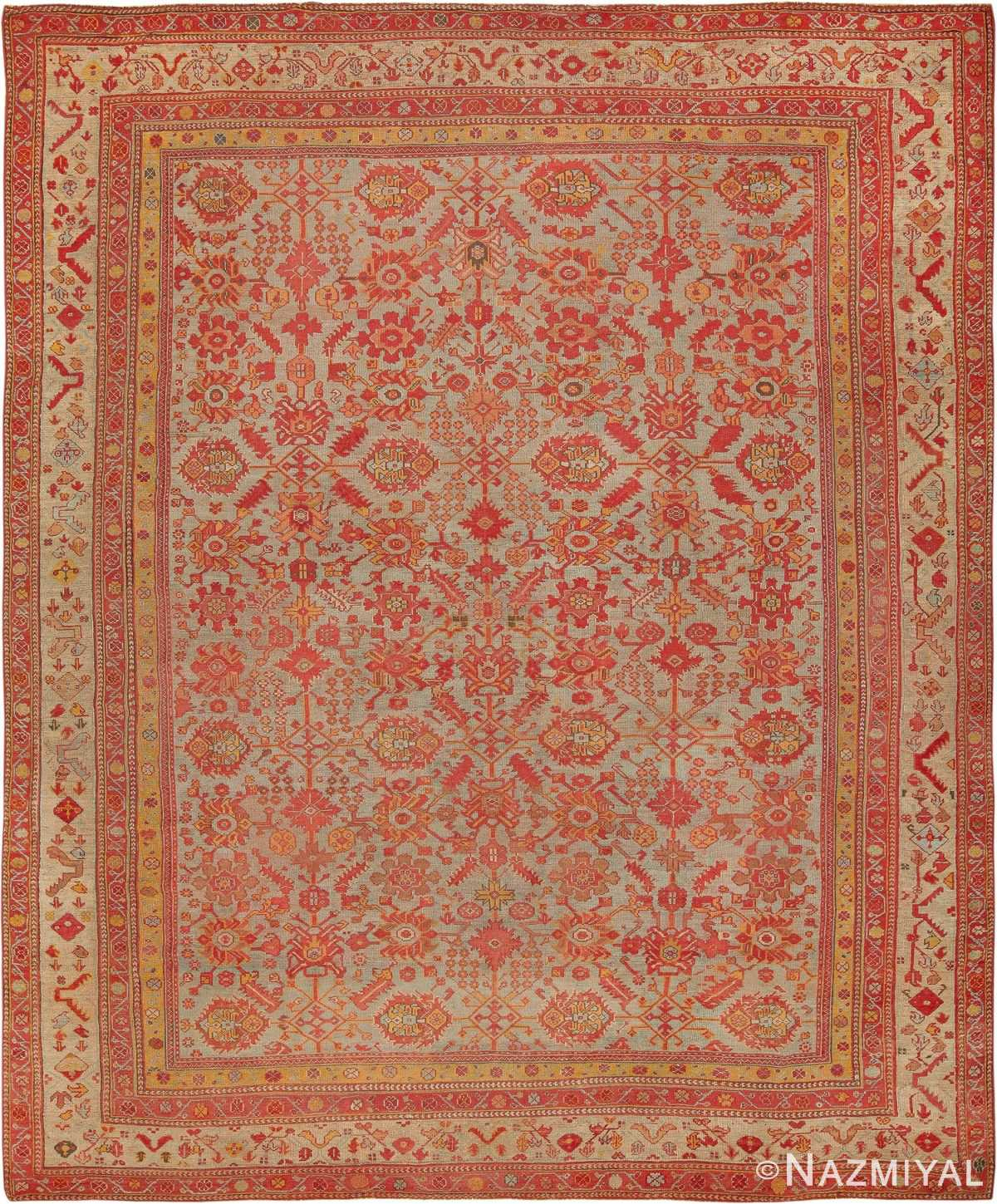 Room Size Antique Decorative Turkish Oushak Rug 49539 - Namziyal