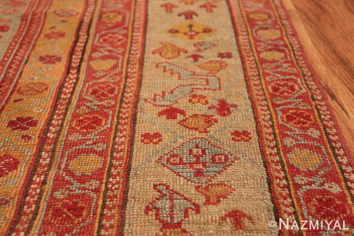 Room Size Antique Turkish Oushak Rug 49539 border Nazmiyal