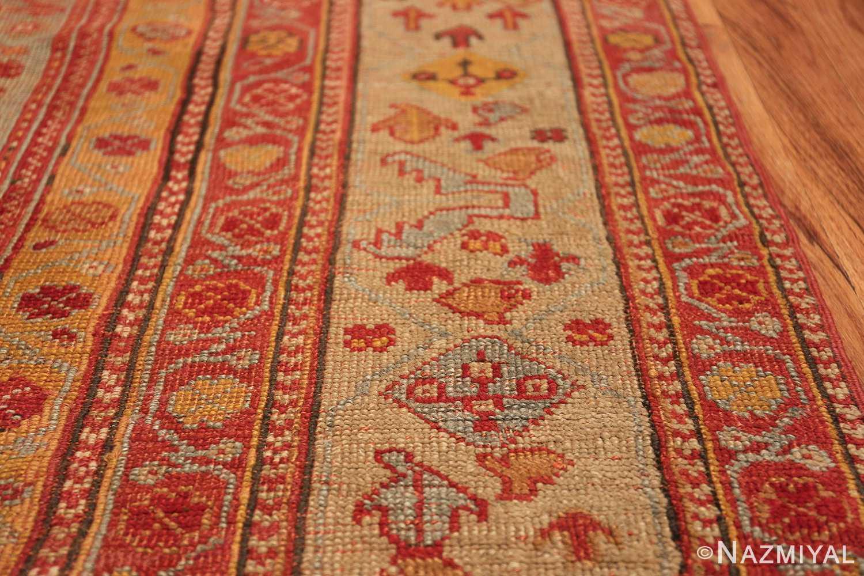 Room Size Antique Turkish Oushak Rug 49539 border Nazmiyal