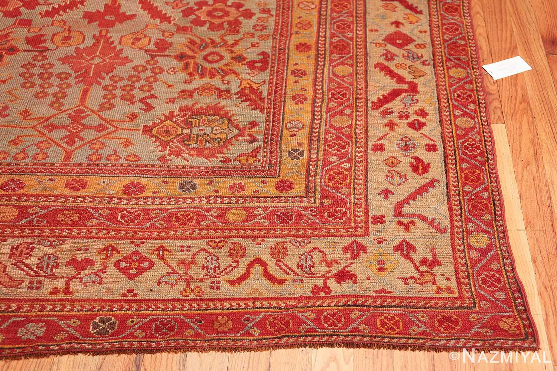 Room Size Antique Turkish Oushak Rug 49539 corner design Nazmiyal