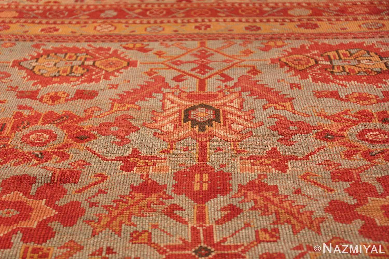 Room Size Antique Turkish Oushak Rug 49539 design Nazmiyal