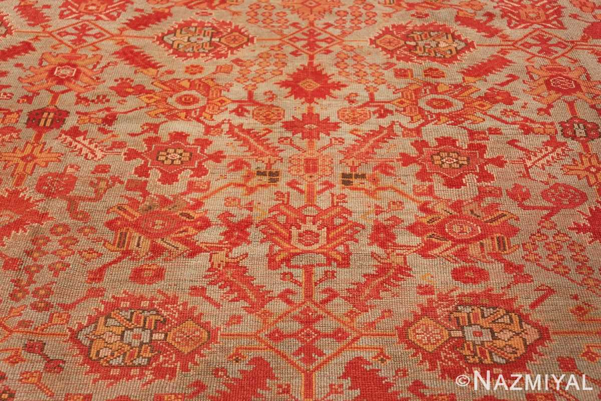 Room Size Antique Turkish Oushak Rug 49539 floral pattern Nazmiyal