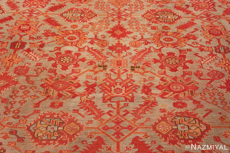 Room Size Antique Turkish Oushak Rug 49539 floral pattern Nazmiyal