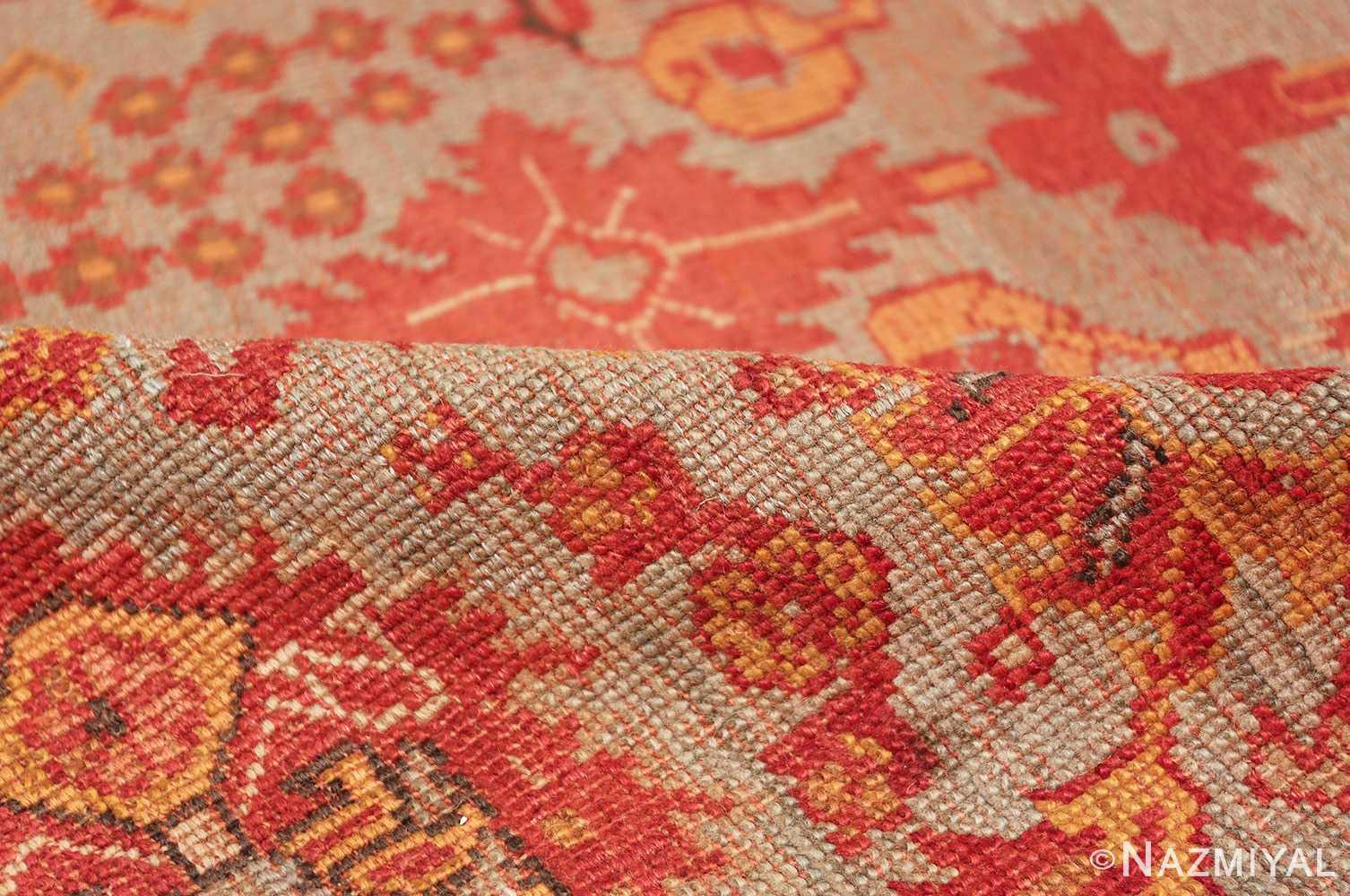 Room Size Antique Turkish Oushak Rug 49539 floral pile Nazmiyal