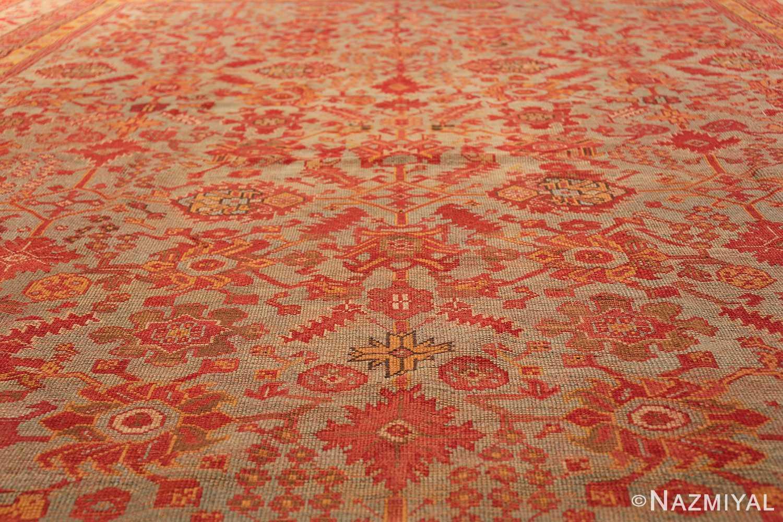 Room Size Antique Turkish Oushak Rug 49539 green field Nazmiyal