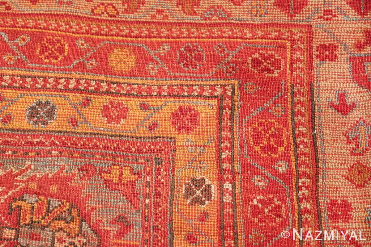 Room Size Antique Turkish Oushak Rug 49539 knots Nazmiyal
