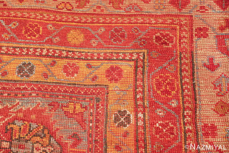 Room Size Antique Turkish Oushak Rug 49539 knots Nazmiyal