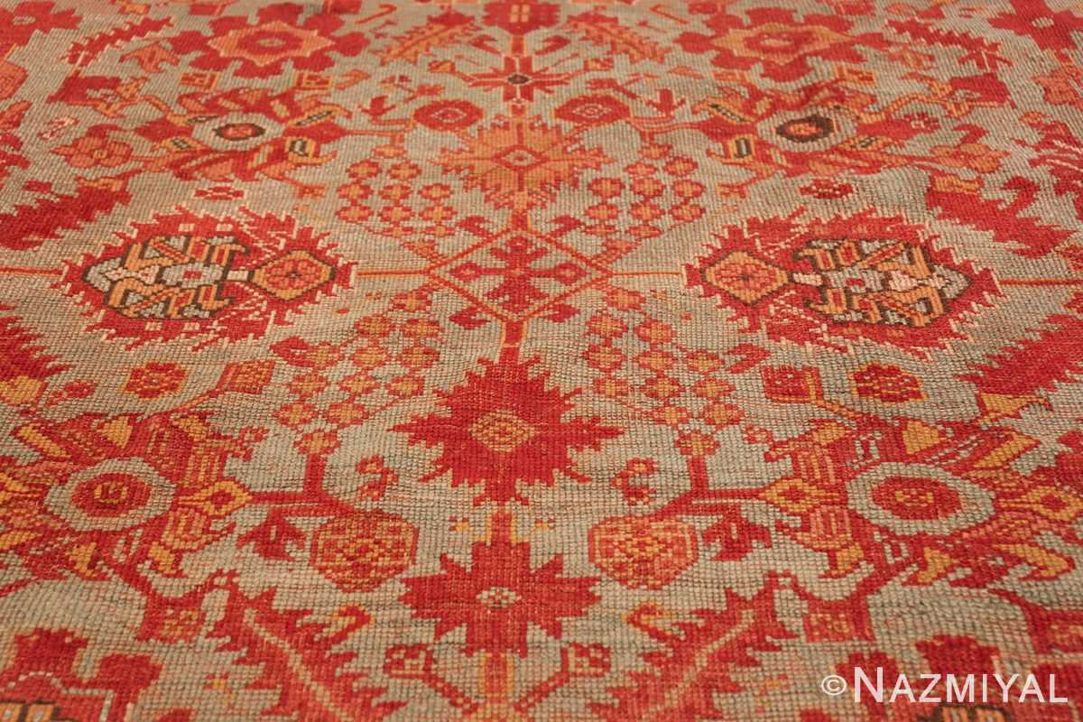 Room Size Antique Turkish Oushak Rug 49539 middle decoration Nazmiyal