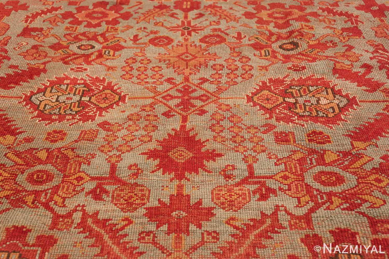 Room Size Antique Turkish Oushak Rug 49539 middle decoration Nazmiyal