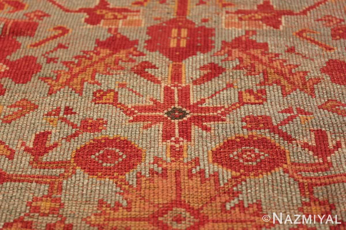 Room Size Antique Turkish Oushak Rug 49539 red flower Nazmiyal