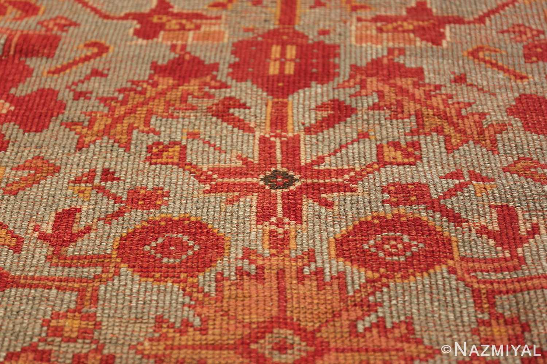 Room Size Antique Turkish Oushak Rug 49539 red flower Nazmiyal
