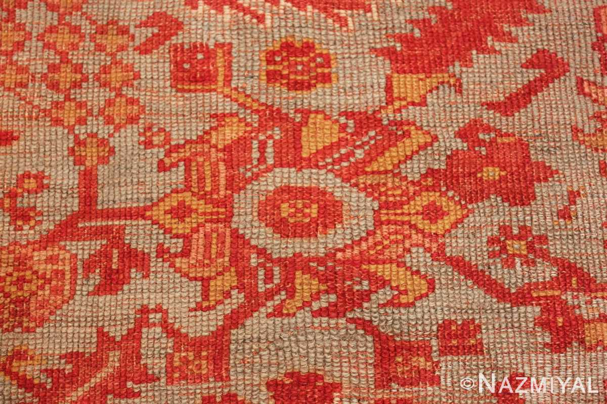 Room Size Antique Turkish Oushak Rug 49539 texture Nazmiyal