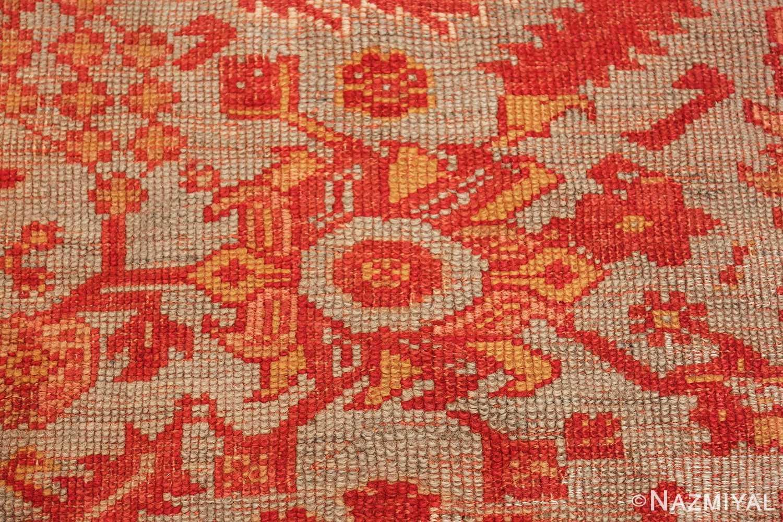 Room Size Antique Turkish Oushak Rug 49539 texture Nazmiyal
