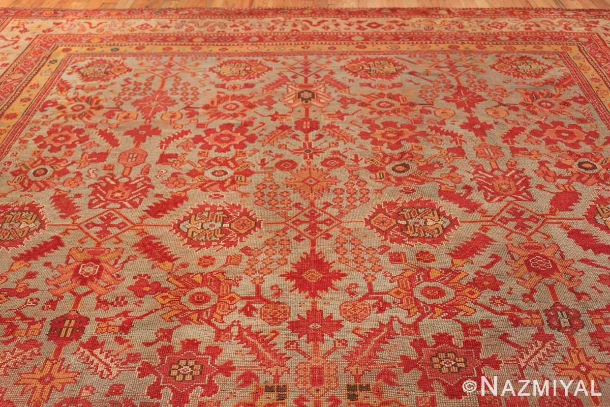 Room Size Antique Turkish Oushak Rug 49539 top design Nazmiyal