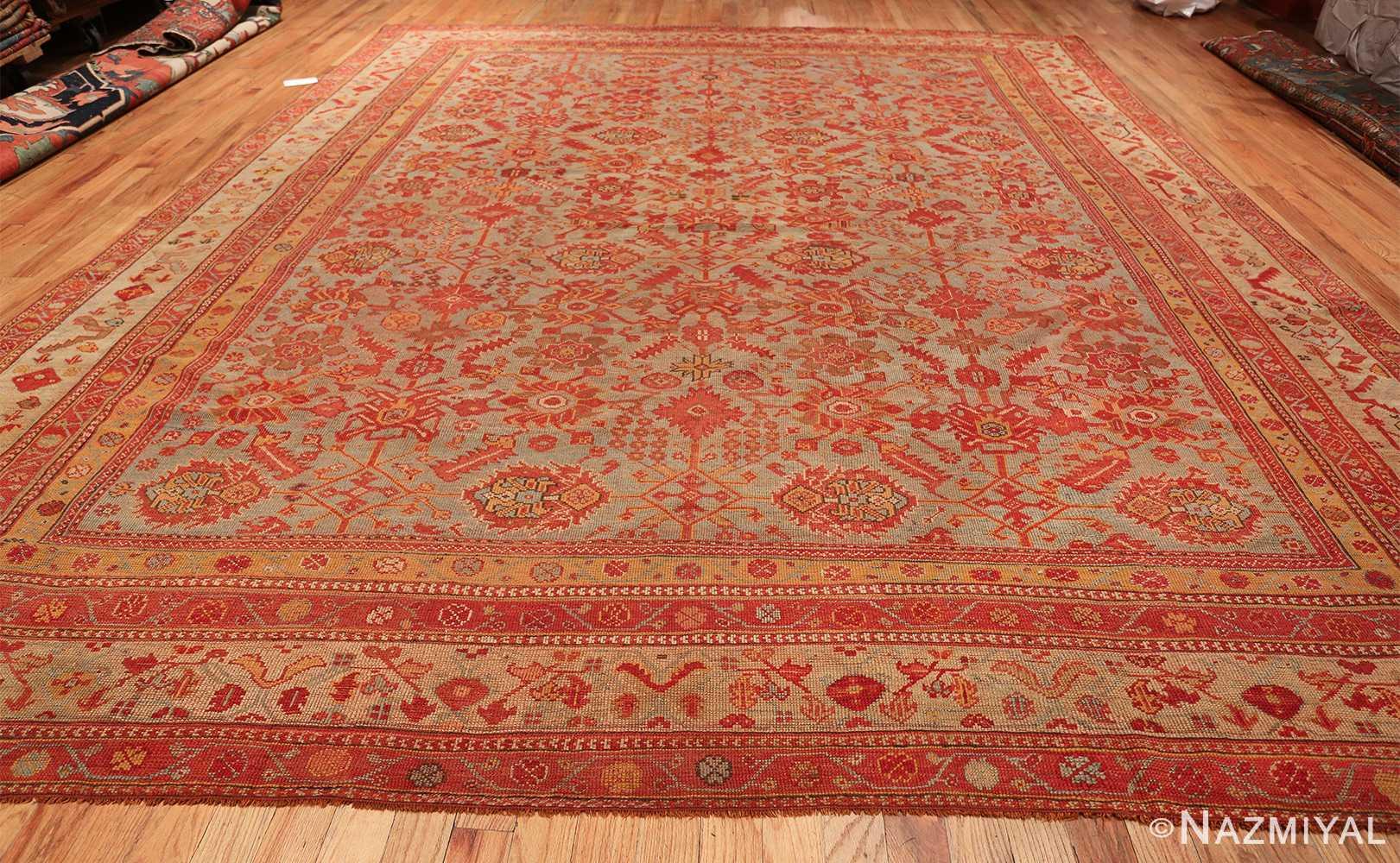 Room Size Antique Turkish Oushak Rug 49539 whole design Nazmiyal