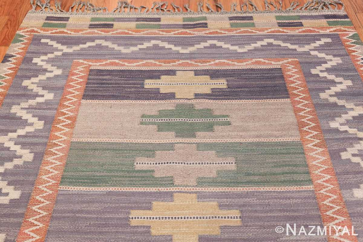 Vintage Marta Mass Scandinavian Swedish Kilim Rug 49823 Top Design Nazmiyal