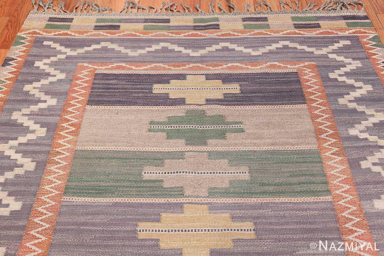 Vintage Marta Mass Scandinavian Swedish Kilim Rug 49823 Top Design Nazmiyal