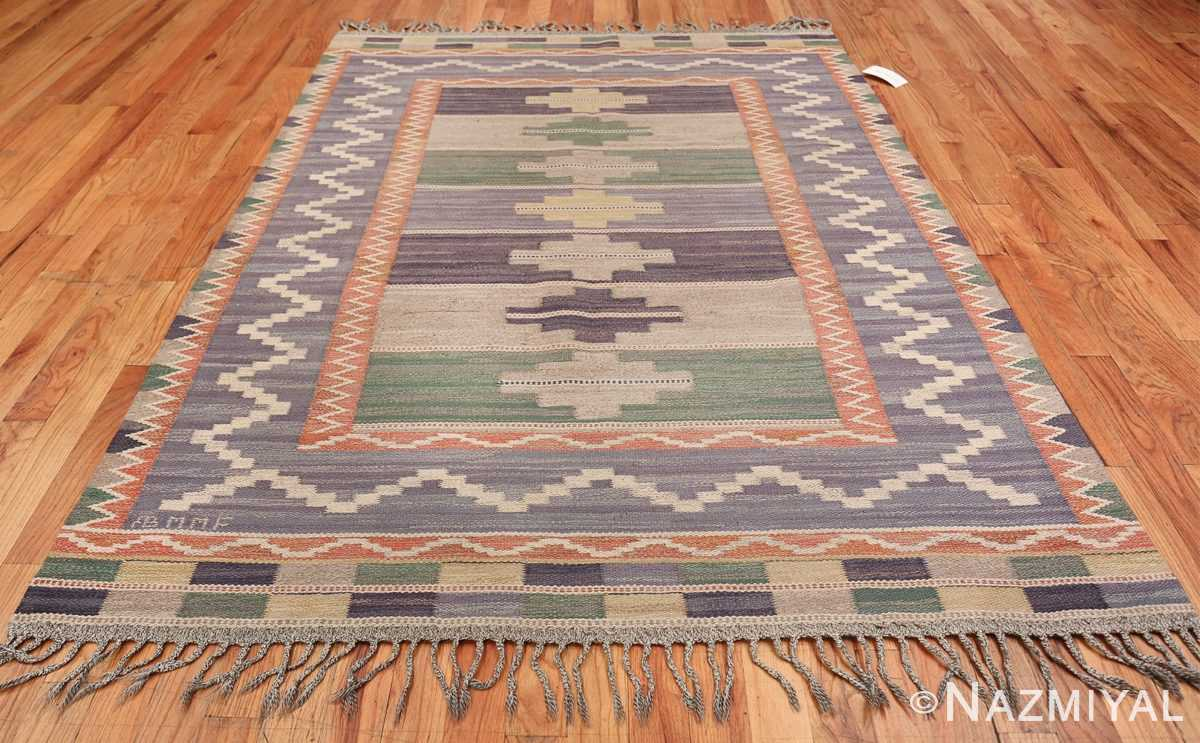 Vintage Marta Mass Scandinavian Swedish Kilim Rug 49823 Whole Design Nazmiyal