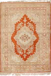 Antique Persian Silk Tabriz Haji Jalili Rug 49830 - Nazmiyal