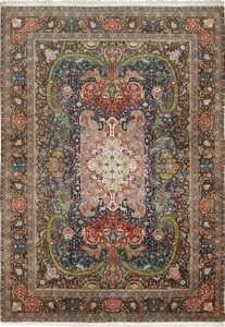 Large Oversized Vintage Persian Tabriz Rug 49837 Nazmiyal
